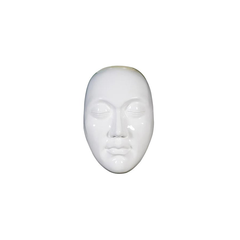 Buy White Face Sculpture Online | Luxury Furniture
