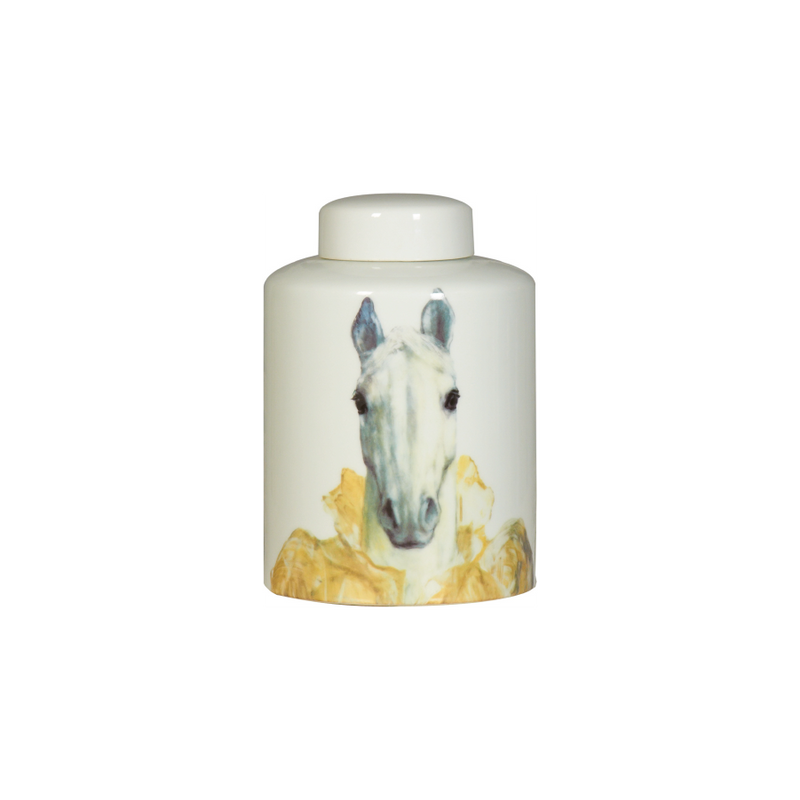 Buy Horse Head Ceramic Lidded Vase | Home Furnishing Pakistan