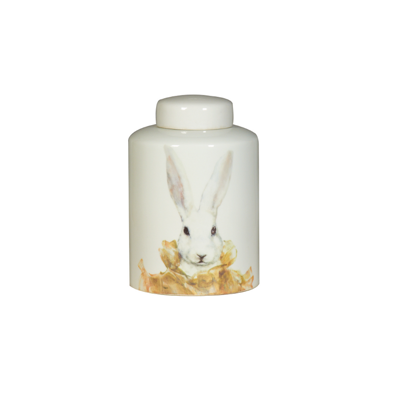 Hare Ceramic Lidded Vase