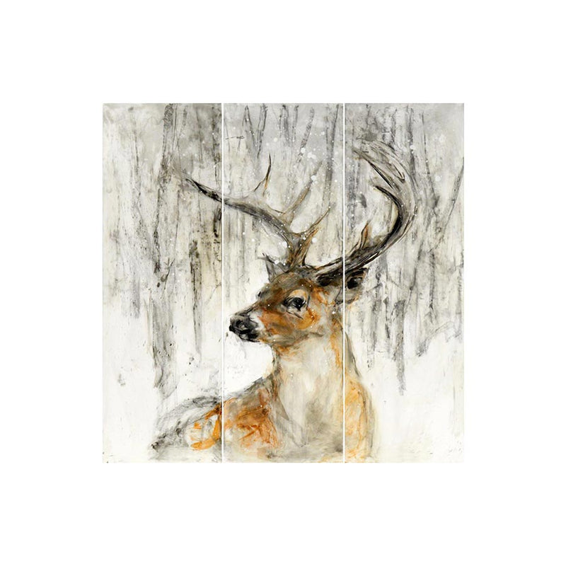 Handpainted Deer Wall Panel