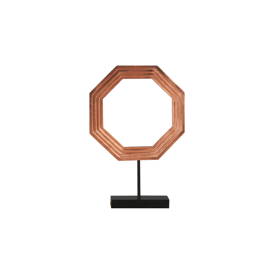 Buy Copper Octagon Sculpture Online | Home Furnishing