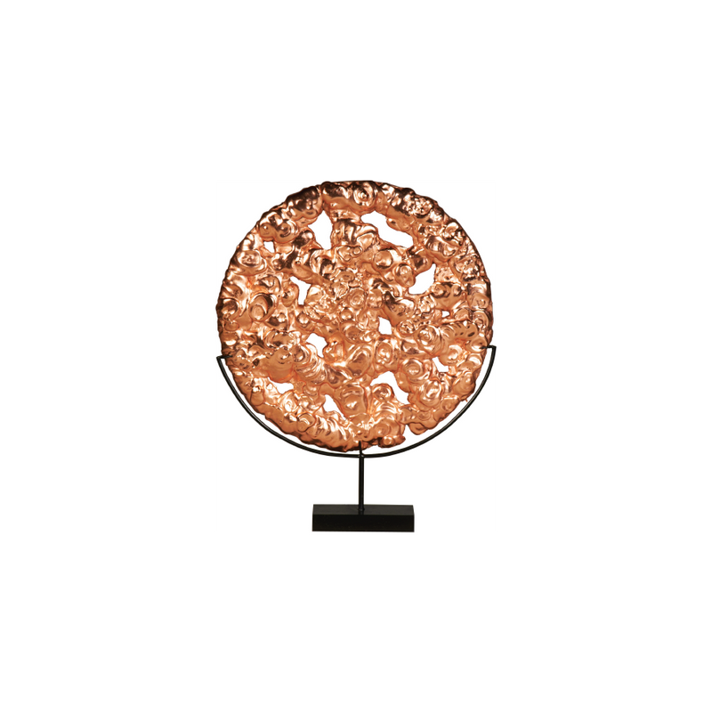 Buy Carved Rose Gold Sculpture Online } Home Furnishing