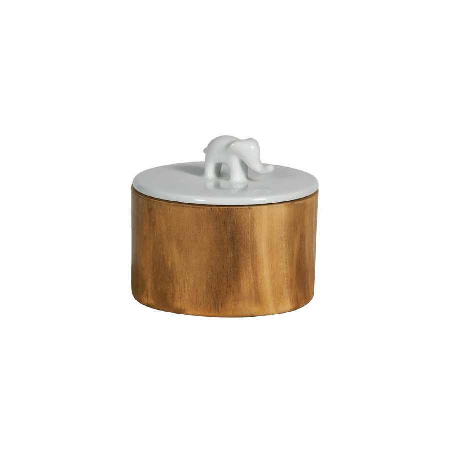 Buy Elephant Topped Wooden Canister Online | Home Furniture