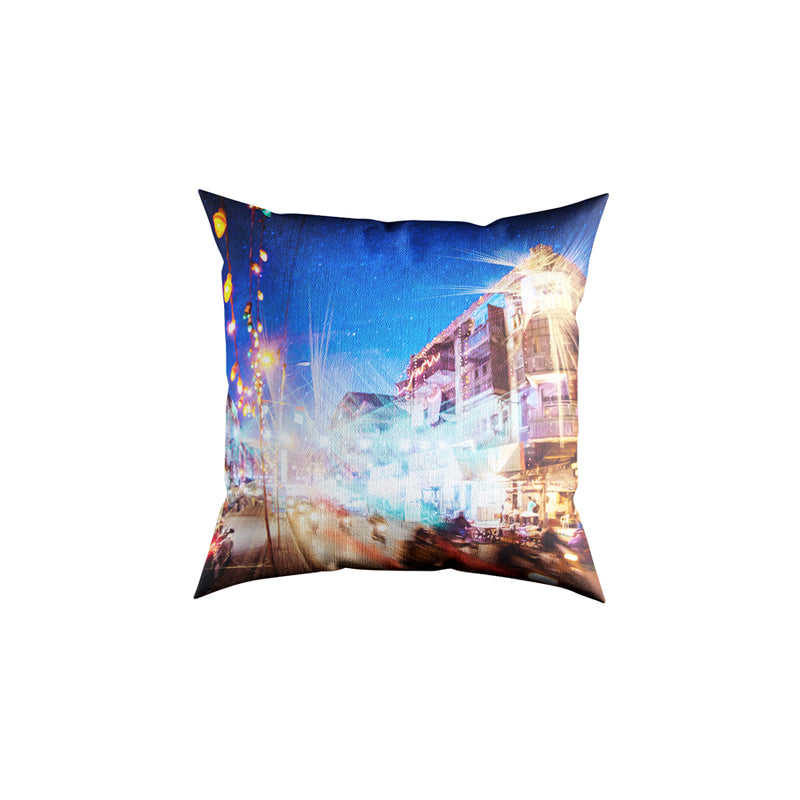 Burns Road Velvet Cushion