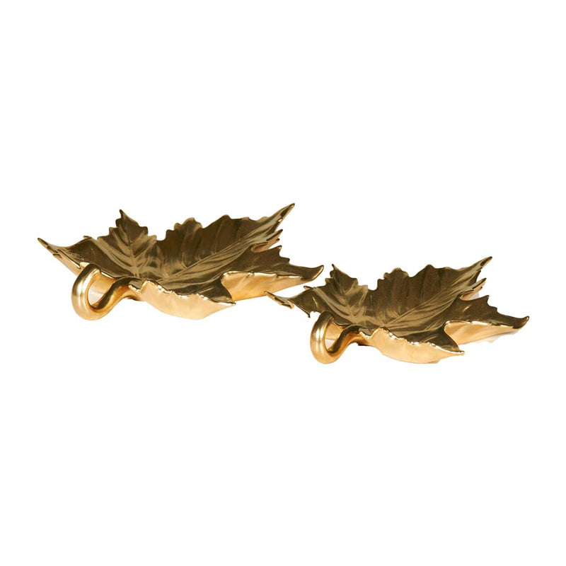 Gold Maple Leaf Sculpture