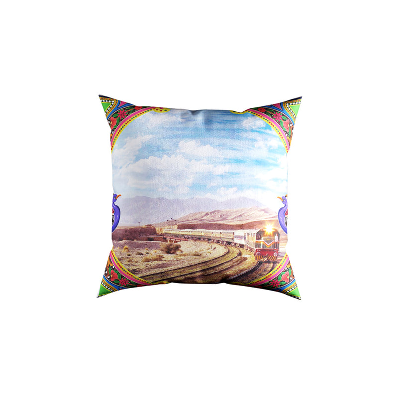 Railroad Velvet Cushion