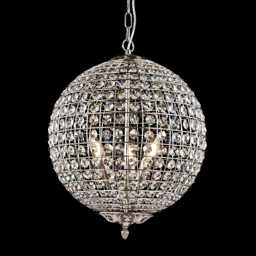 Buy Nickel Crystal Chandelier Online | Home Furnishing