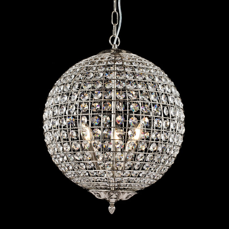 Nickel Crystal Chandelier
