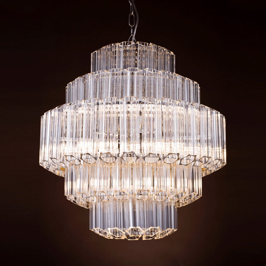 Buy Sainted Nickel Cylinder Chandelier | Luxury Furniture
