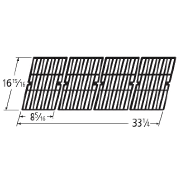 BBQ Grill Broil King Grate 4 Piece Cast Iron Set 16 15/16 X 33 1/4 BCP66124 - BBQ Grill Parts