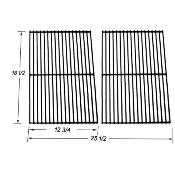 BBQ Grill DCS Grate Grill 2 Pc Porcelain Coated Steel Wire 18 1/2 X 25 1/2 BCP54712 - BBQ Grill Parts