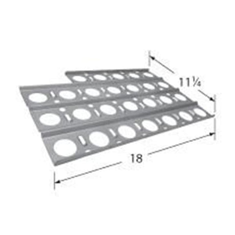 BBQ Grill Jenn-Air Grill 1 Piece Stainless Steel Heat Plate With Notch 18 x 11 1/4 BCP92561 - BBQ Grill Parts