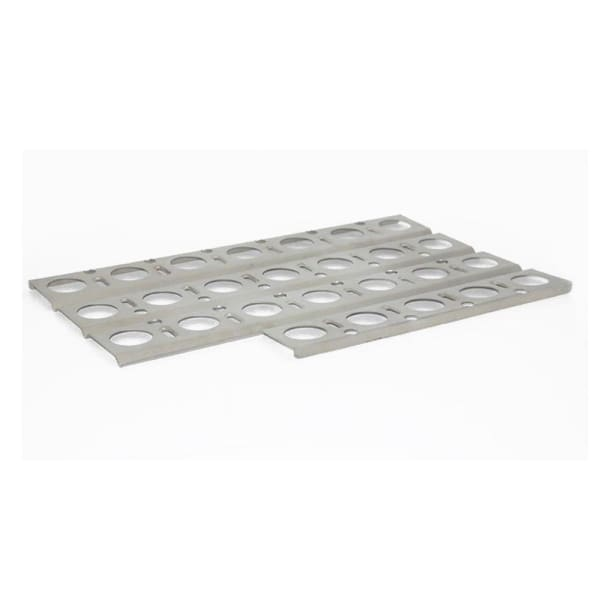 "BBQ Grill Jenn-Air Grill 1 Piece Stainless Steel Heat Plate With Notch 18"" x 11 1/4"" BCP92561"