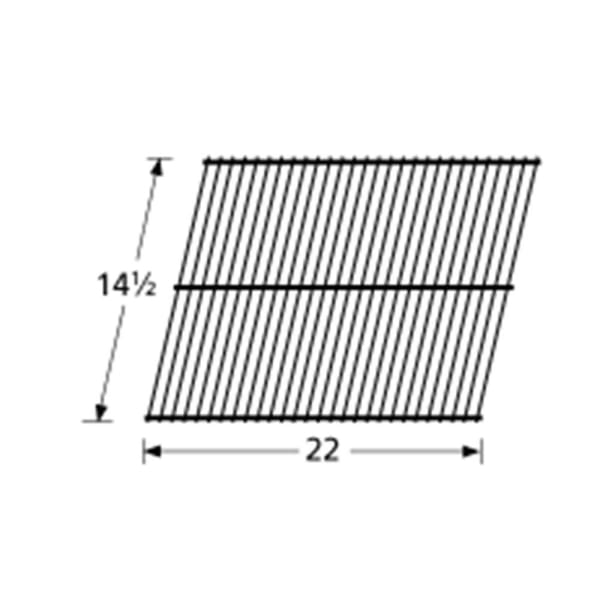 """BBQ Grill Members Mark 2 Piece Porcelain Stainless Steel Grate 14 9//16/"""" x 21 1//4"""