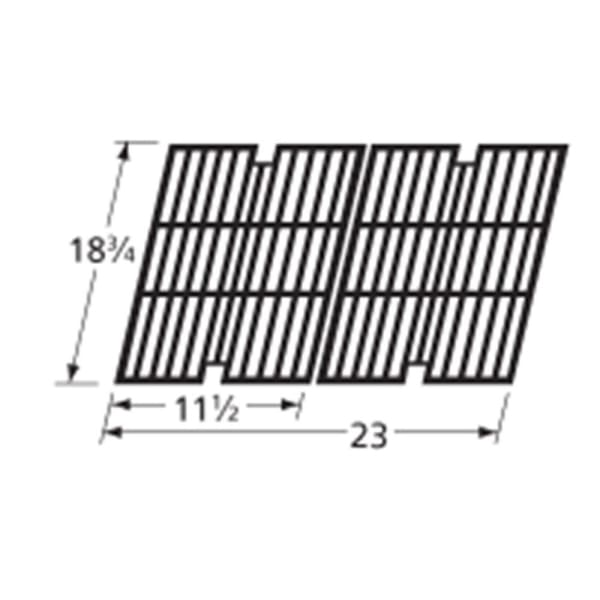 BBQ Grill Members Mark 2 Piece Gloss Cast Iron Grate 18 3/4 x 23 BCP63012 - BBQ Grill Parts