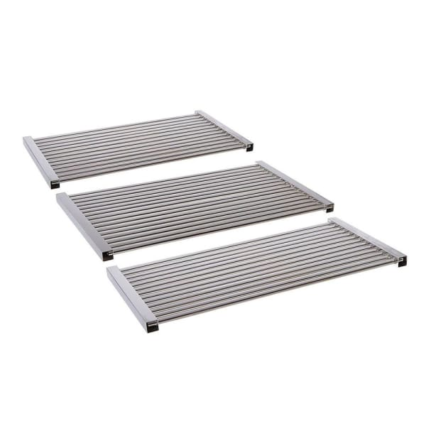 "BBQ Grill Members Mark 3 Piece Stainless Steel Tubes Grate 18 5/8"" x 30 3/4""  BCP5S463"
