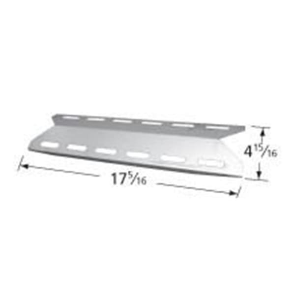 BBQ Grill Members Mark Stainless Steel Heat Plate 17 5/16 x 4 15/16 BCP93041 - BBQ Grill Parts