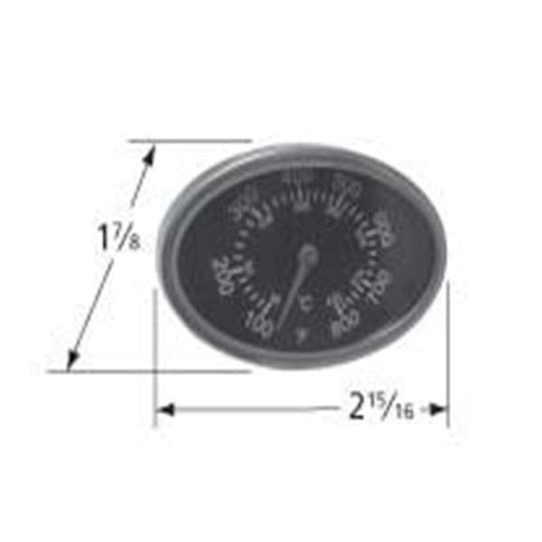 Bbq Grill Members Mark Stainless Steel Temperature Gauge 1