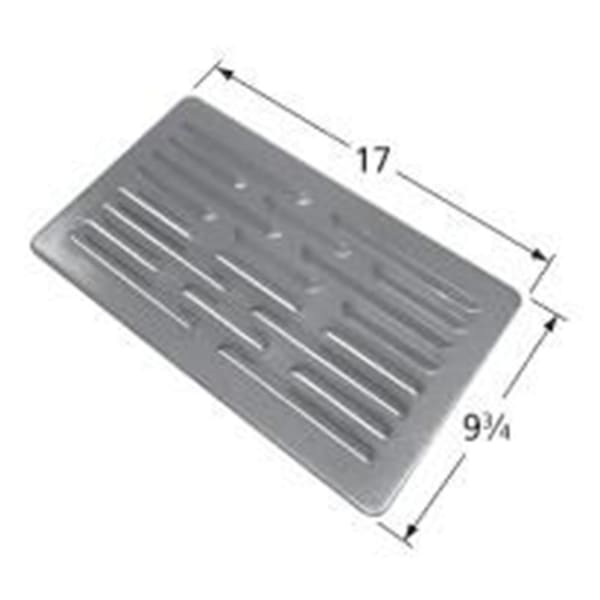 BBQ Grill Members Mark Steel Heat Plate 1 Piece 17 x 9 3/4 BCP91721 - BBQ Grill Parts