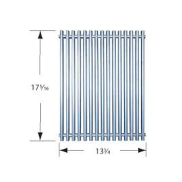BBQ Grill Weber Grill 1 Piece Stainless Steel Channel Formed Cooking Grate 13 3/4 x 17 5/16 BCP53S41 - BBQ Grill Parts