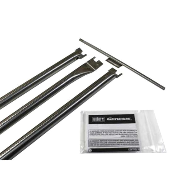 BBQ Grill Weber Grill 3-Pack Stainless Steel Burner Set (Plus 1 Crossover Burner Tube) BCP67722 OEM