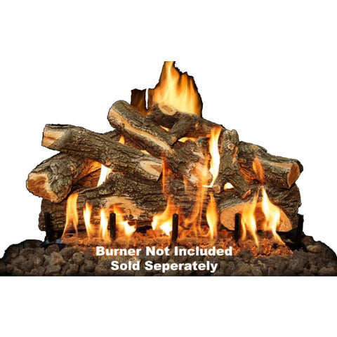 Fireplace Logs 8Pc Arizona Weathered Oak For Front View Burners 30 (Burner not included) - Fireplace