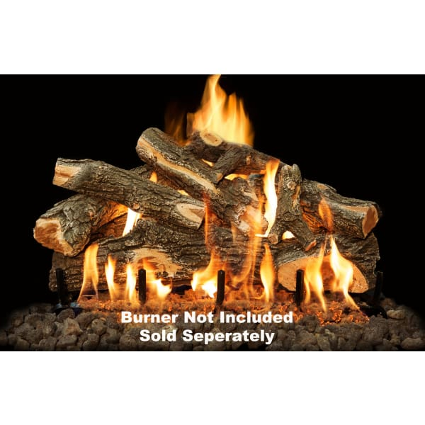 "Fireplace Logs 8Pc Arizona Weathered Oak For Front View Burners 30"" (Burner not included)"