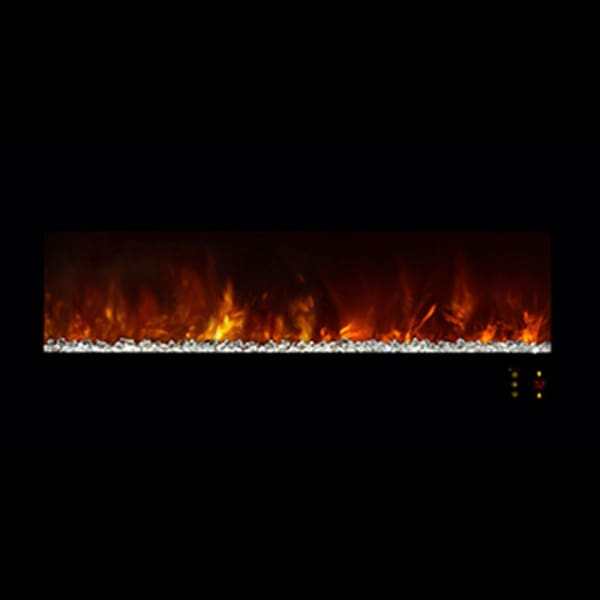 Fireplace Modern Flames Lin DLX 2 Elec BK Stainless Steel Al45CLX2-BS - Fireplace