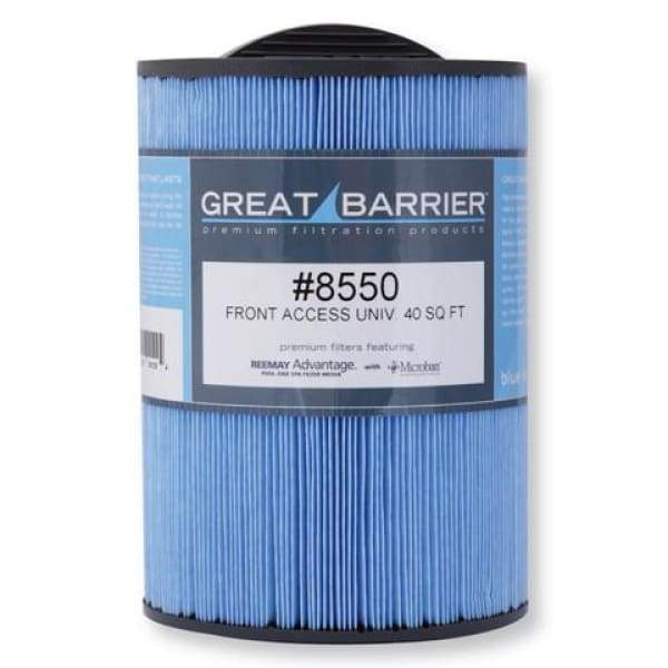 Hot Tub Great Barrier Filter - 40 Sf Front Access Universal Single Replacement Filter HTCP8550
