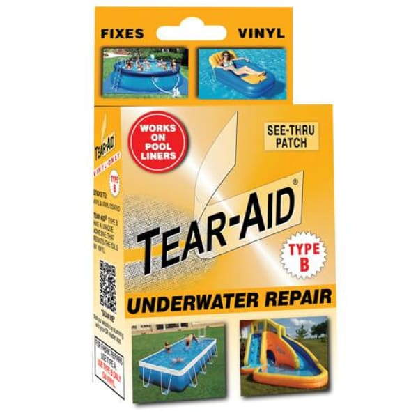 Hot Tub Maintenance & Cleaning TEAR-AID Type B Vinyl Underwater Repair Kit HTCP6430 - Hot Tub Parts