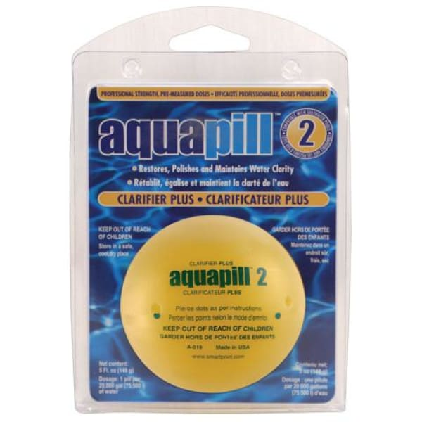 Pool AquaPill 2 Clarifier Plus 1 Piece For Pools Up To 20,000 Gal. Capacity POOL1620