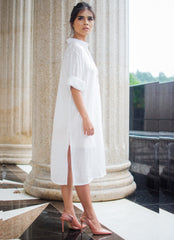 Sylvia Chung Shirtdress Dress in Ivory