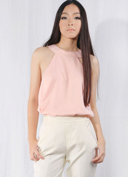 Sylvia Chung You Choker Top in Blush