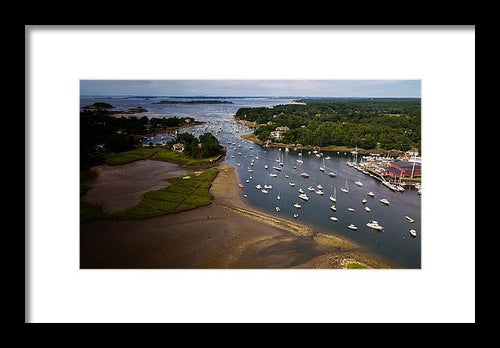 Over Manchester-by-the-sea - Framed Print