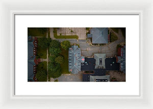 Over Medfield State Hospital #3 - Framed Print