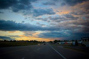 Sunset In Greeley #2 - Art Print