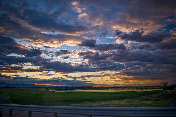Sunset In Greeley - Art Print