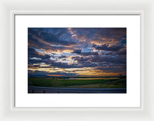 Load image into Gallery viewer, Sunset In Greeley - Framed Print