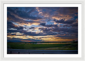 Sunset In Greeley - Framed Print