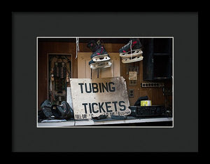 Tubing Tickets - Framed Print