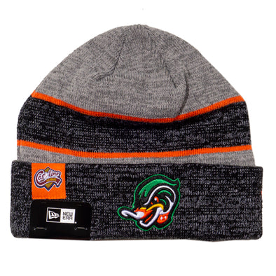 Gray and Black Knit Wood Ducks Hat