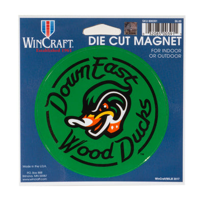 Green Die Cut Wood Ducks Magnet