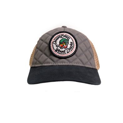 Quilted  Front Wood Ducks Cap