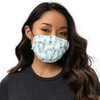 "All-Over Print ""Tokyo Girls"" Face Mask (Light Blue)"