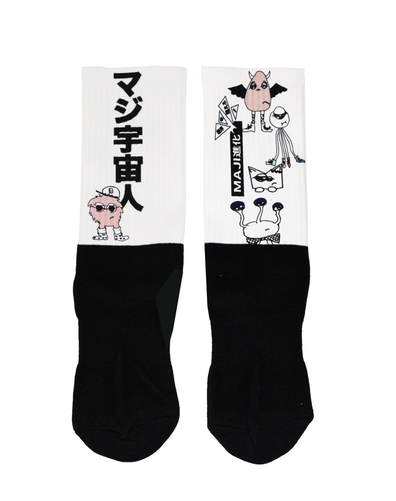 Uchu-Jin - Alien Athletic Crew Socks (PRE-ORDER)