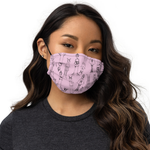 "All-Over Print ""Tokyo Girls"" Face Mask (pink)"