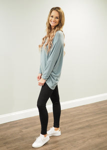 Taryn Relaxed Lightweight Teal Sweater | Sisterhood Style