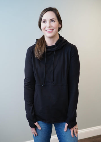 Angela Black Active Hoodie | Sisterhood Style