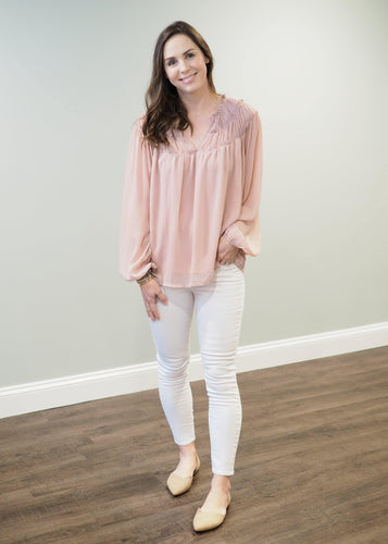 Betsy Breezy Blouse in Blush | Sisterhood Style