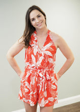 Load image into Gallery viewer, Catalina Red Tropical Romper | Sisterhood Style